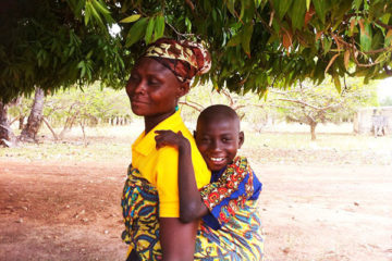 Mother and son with CP in Ghana