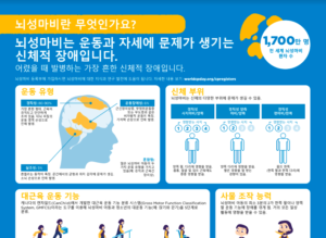 Korean - What is Cerebral Palsy Infographic
